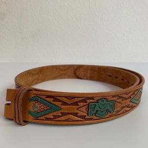 Vintage Chambers Thunderbird Leather Belt